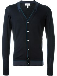Brioni V Neck Cardigan Blue