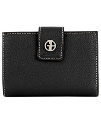 Giani Bernini Softy Leather Wallet Created For Macy's Black