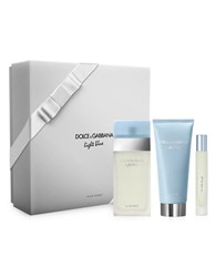 Dolce And Gabbana Light Blue Womens Eau De Toilette Spray Gift Set 159.00 Value No Color