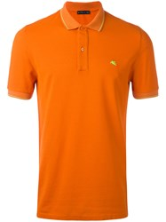 Etro Classic Polo Shirt Yellow Orange
