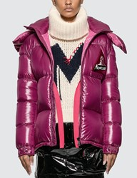 Moncler Removable Hooded Down Jacket Brown