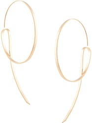 Annie Costello Brown Lasso Earrings Gold