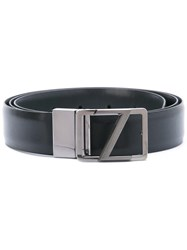 Z Zegna Buckled Belt Black