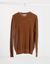Celio Jumper In Camel Beige