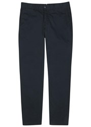 J. Lindeberg Chase Navy Brushed Cotton Chinos