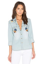 Deby Debo Desert Button Up Blue