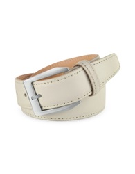 Pakerson Men's White Hand Painted Italian Leather Belt