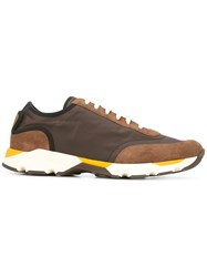 Marni Low Top Lace Up Sneakers Brown