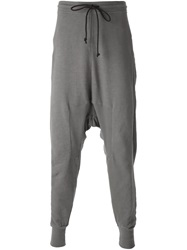 Lost And Found Drop Crotch Track Pants Grey