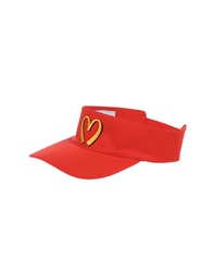 Moschino Couture Hats Red