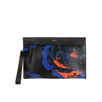 Dkny Women's Cosmic Rose Clutch Bag Black Ink Scarlet
