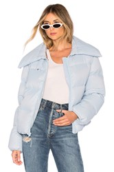 Kendall Kylie Puffer Jacket Baby Blue