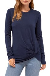 Stateside Twist Front Fleece Sweatshirt Navy