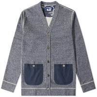 Junya Watanabe Man Patch Pocket Cardigan Blue