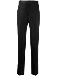 Alexander Mcqueen Glittered Tailored Trousers Black