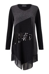 James Lakeland Sequin Embellished Tunic Grey
