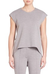 Adam By Adam Lippes Hi Lo Muscle Tee Light Grey