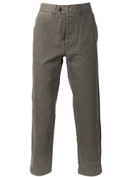 Officine Generale 'New Fisherman' Twill Chinos Green