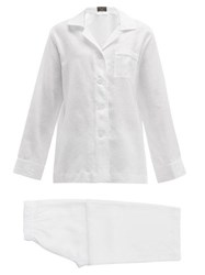 Emma Willis Linen Pyjamas White