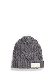 Sacai Cable Knit Wool Beanie Grey