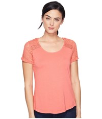 Aventura Clothing Wyatt Short Sleeve Spiced Coral Women's Short Sleeve Pullover Orange