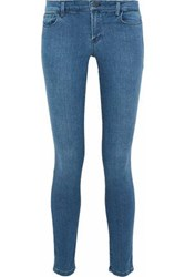 Theory Low Rise Skinny Jeans Mid Denim