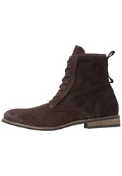 Shoe The Bear Walker Laceup Boots Dark Brown