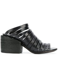 Marsell Strapped Mules Black