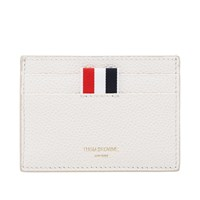 Thom Browne Single Card Holder White