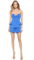 Finders Keepers Take A Shot Romper Dazzling Blue
