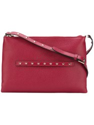Red Valentino Star Detail Shoulder Bag Women Leather One Size Red