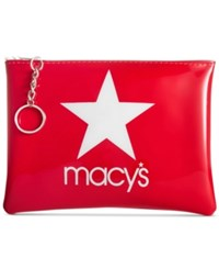 Macy's Star Pouch White Red