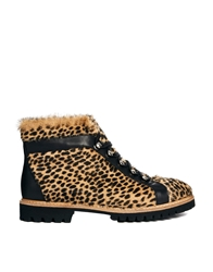 Whistles Cheetah Nadia Trek Flat Ankle Boots