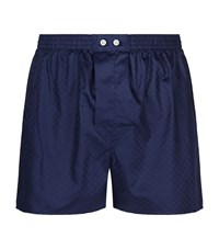 Harrods Cotton Boxers Navy
