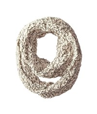 San Diego Hat Company Bss1509 Plus Texture Infinity Scarf With Gold Sequins Ivory Scarves White
