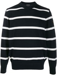 Paul And Shark Striped Crew Neck Jumper 60