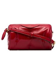 Anya Hindmarch Red Chubby Barrel Leather Naplak Bag