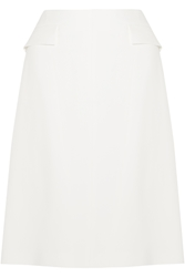 Wes Gordon A Line Crepe Skirt
