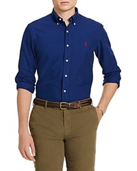 Polo Ralph Lauren Garment Dyed Cotton Standard Fit Button Down Shirt Holiday Navy