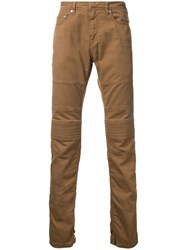 Neil Barrett Ribbed Knee Jeans Brown