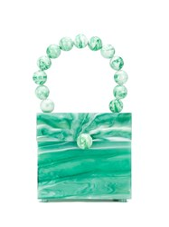 Cult Gaia Eos Box Tote Bag Green