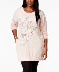 Melissa Mccarthy Seven7 Le Meow Sweater Creole Pink