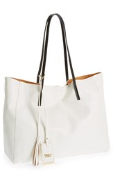 Poverty Flats By Rian 'Colorful' Faux Leather Shopper White White Black