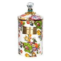 Mackenzie Childs Flower Market Enamel Canister White Multi