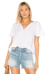 Velvet By Graham And Spencer Jennifer Ruffle Blouse White