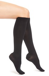 Item M6 Opaque Compression Knee High Socks Black