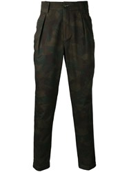 Etro Pleated Chinos Green