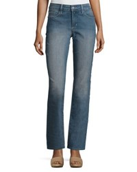 Nydj Marilyn Palmdale Straight Jeans Medium Blue