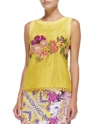 Etro Sleeveless Embroidered Lace Top