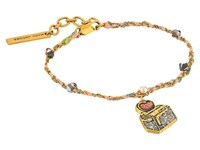 Marc Jacobs Charms Wonderland Toast My Heart Friendship Bracelet Yellow Multi Charms Bracelet